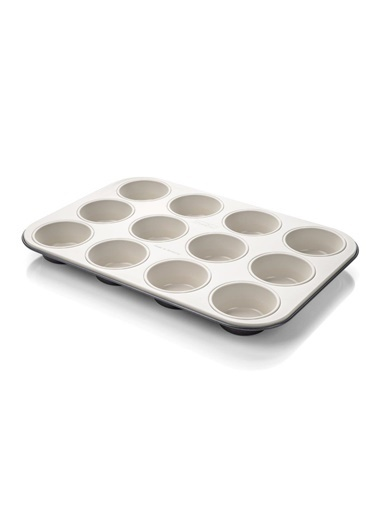 Zenker Zenker 7820 Creme Noir Teflon Kaplama Krem 12'li Muffin Kalıbı Renkli